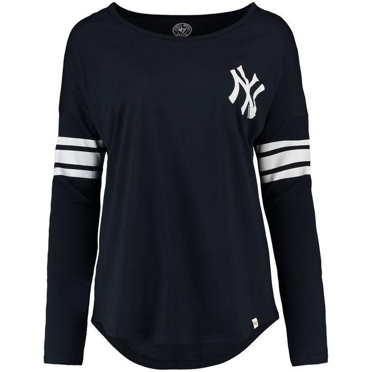 New York Yankees '47 Women's Ultra Courtside Long Sleeve T-Shirt - Navy