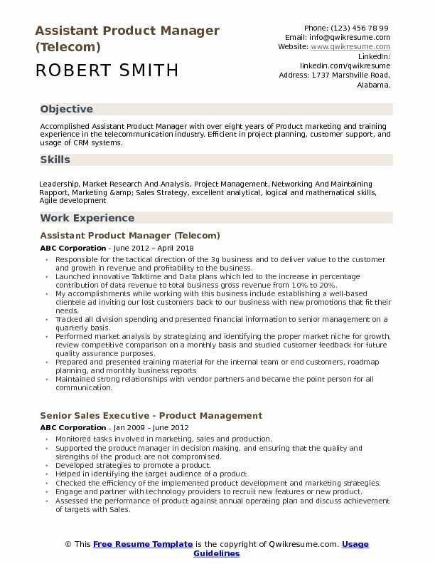 Product Manager Resume Example Amazing Assistant Product Manager Resume Samples Of 32 Elegant Resume Skills Resume Objective Examples Resume Examples