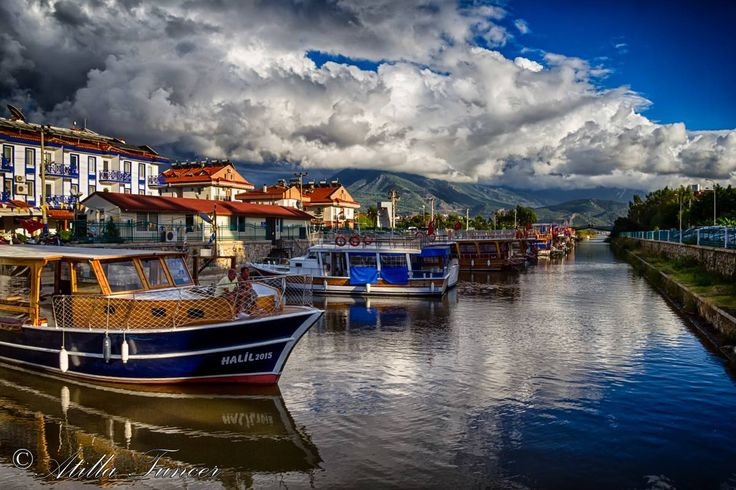 Water taxi channel in #Calis #Fethiye #Turkey