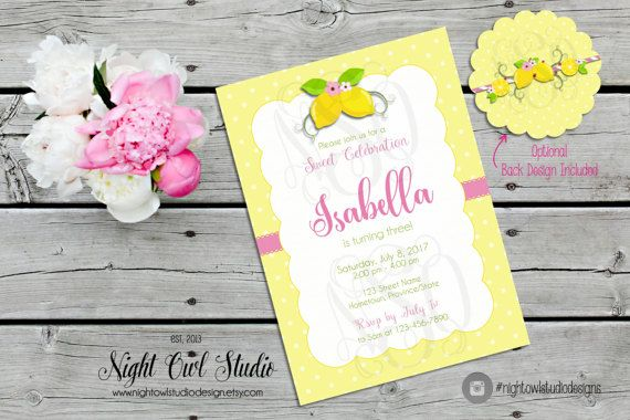 Lemonade Birthday Party Invitation Pink Lemonade Party