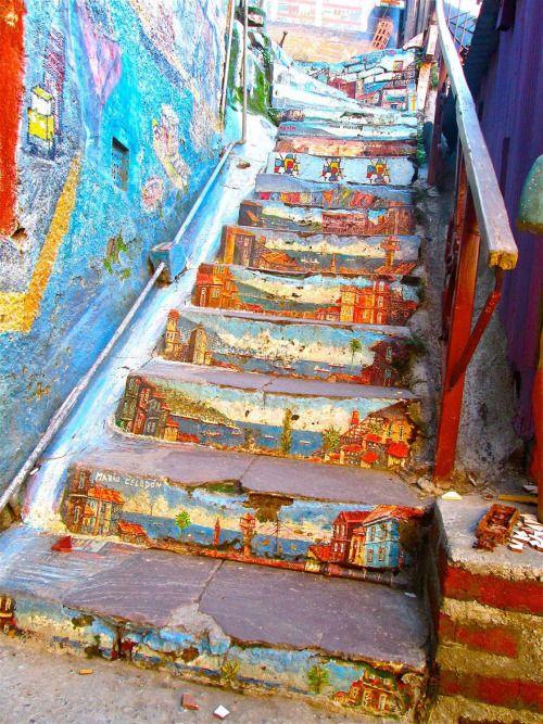 Arte callejero en Valparaíso.