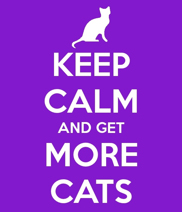 Keep calm, and get more cats.