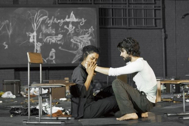 Sophie Okonedo and Ben Whishaw play Elizabeth and John Proctor in The Crucible.