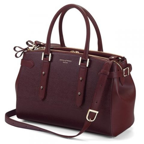 Brook street bag, burgundy, by aspinal of london.