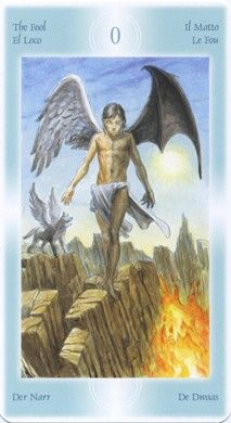Fool card from the Tarot of the Angels