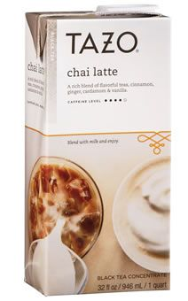 We love Tazo Chai Latte concentrate! This stuff is delicious.  Only con - you have to use within 7 days