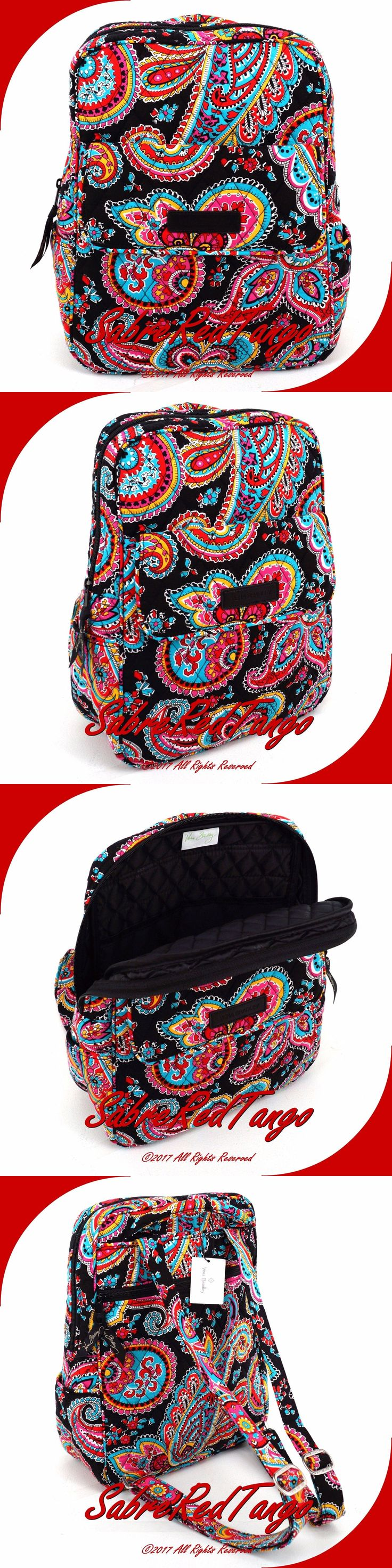 Backpacks and Bookbags 169292: Nwt Vera Bradley Quilted Small Petite Backpack Bag Purse Floral Parisian Paisley -> BUY IT NOW ONLY: $49.99 on eBay!