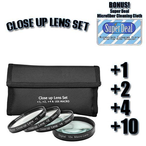 Introducing CLASSIC High Definition 1 2 4 10 CloseUp Macro Filter Set  Pouch For The CANON EOS20D Which Has Any Of These Lenses  EF 50mm F18 II EF 800mm f56L IS Or Any Other Similar Lenses  Exclusive FREE Complimentary Super Deal Micro Fiber Lens Cleaning Cloth. Great Product and follow us to get more updates!