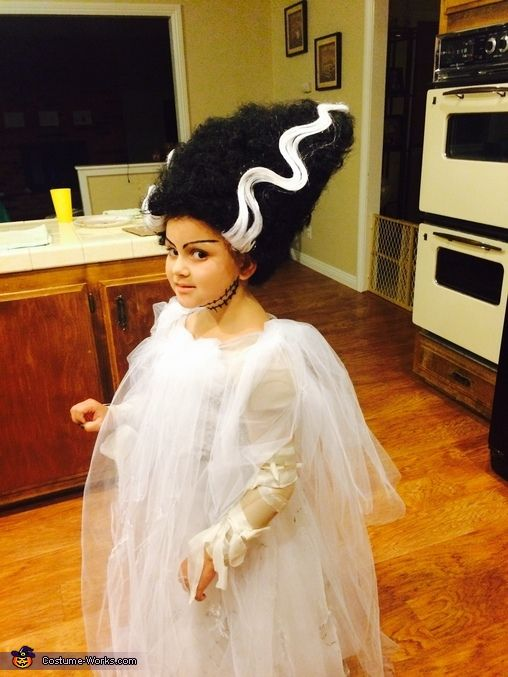Veronica: My daughter loves scary movies. I decided to dress her as a classic scary female character, Bride of Frankenstein! In order to make her wig it took some planning. I...