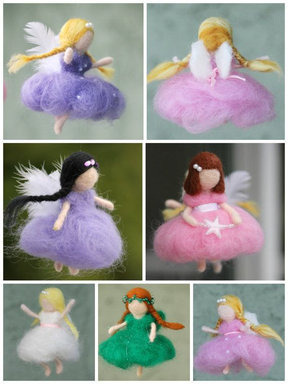 Custom made needle felted fairy Waldorf fairy by JensFeltedJems