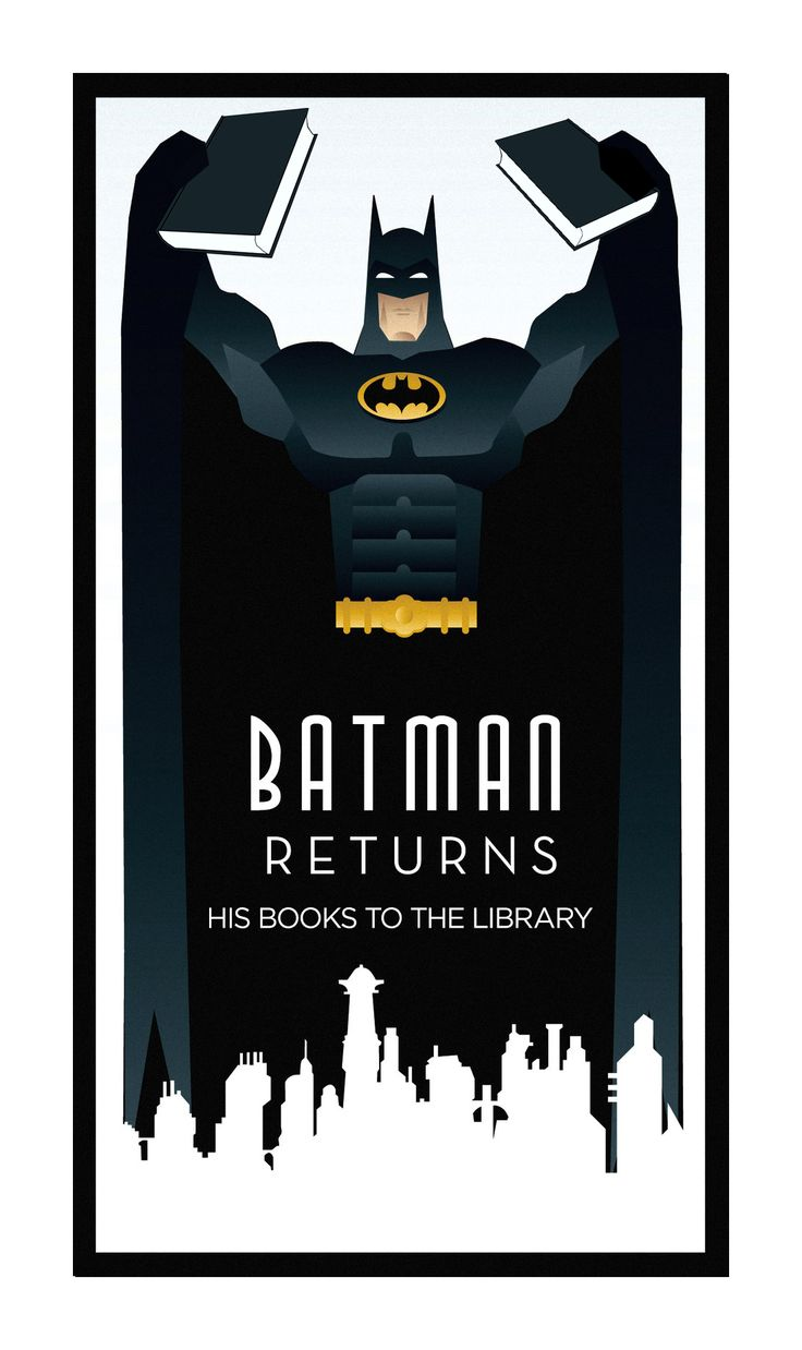 Poster design near me - Batman Returns His Books To The Library Little Poster That Belongs At