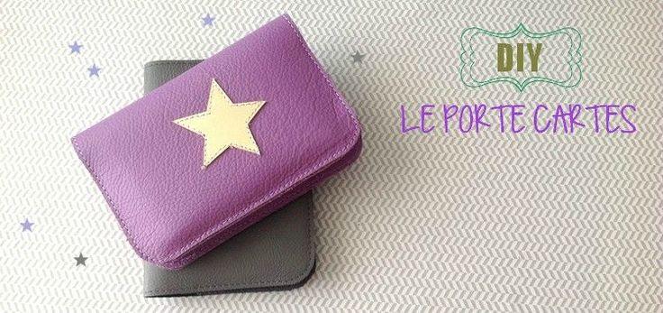 DIY // Le porte cartes en cuir + explications pour coudre avec tissu