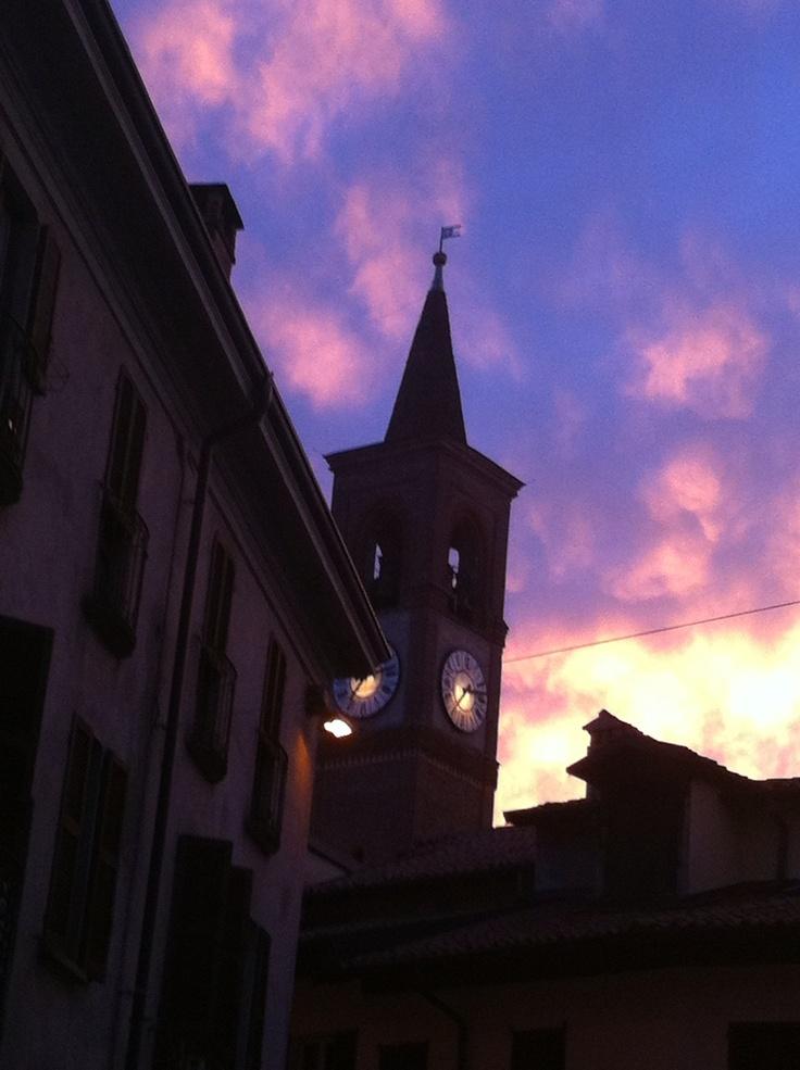 Sunset in Abbiategrasso