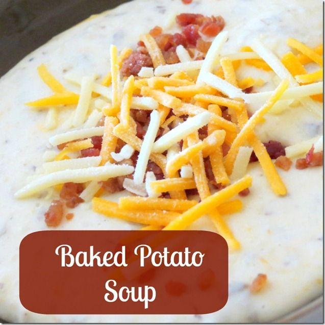Slow Cooker Baked Potato Soup #Recipe