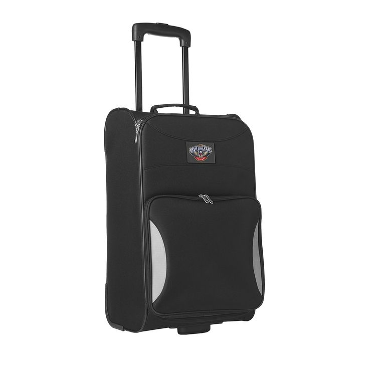 Sports Licensed Division Steadfast 18-inch New Orleans Pelicans Rolling Carry-on Upright Suitcase