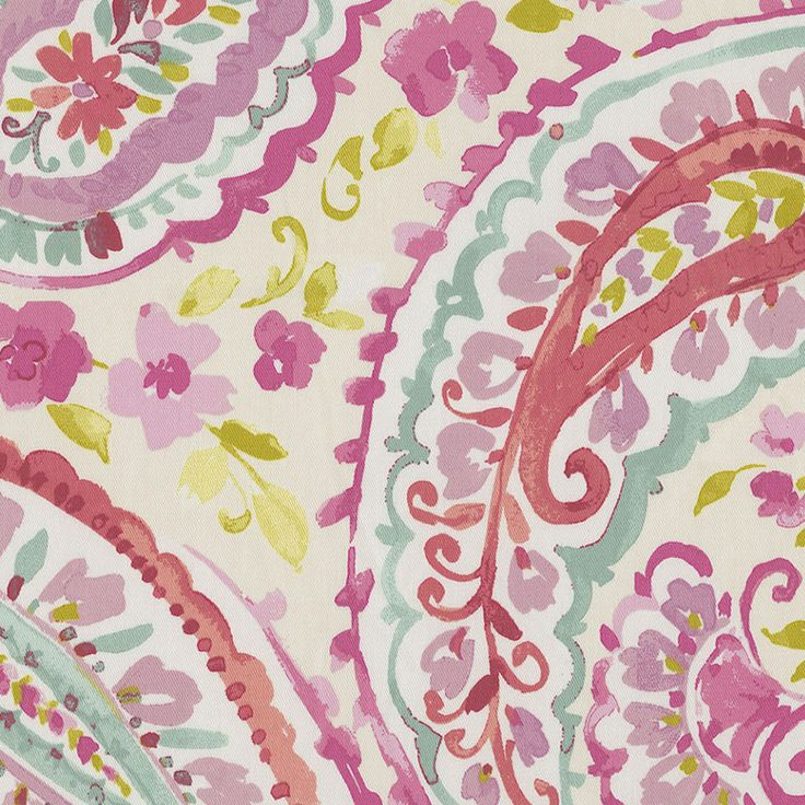 Watercolor Paisley Fabric Sold by the Yard #carouseldesigns