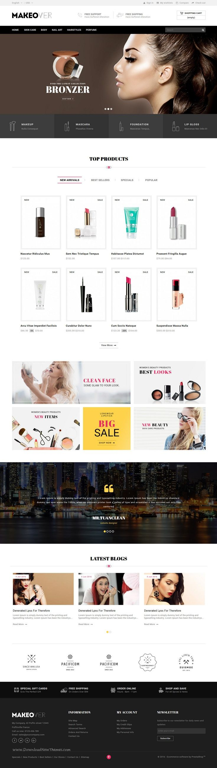 Makeover is wonderful 4 in 1 #Prestashop Theme for multipurpose eCommerce website. #cosmetics #makeup Download Now!