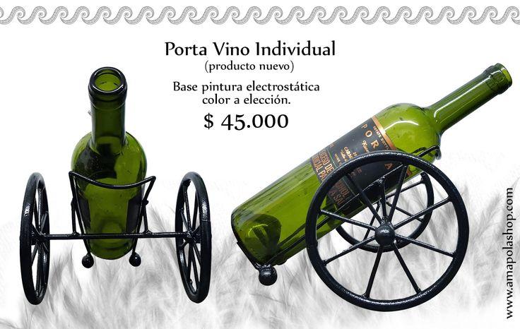 Porta vino carreta, decoracion en metal, hierro forjado