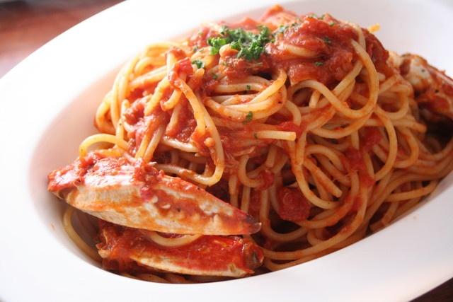 俺のイタリアン - 料理写真:ワタリガニのトマトクリームパスタ      ¥780