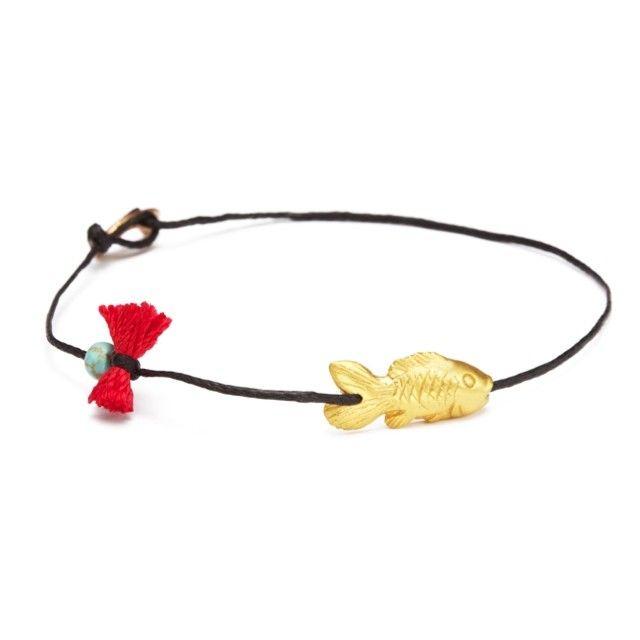 I am hooked on you! #apriati #apriatijewels #bracelet #goldfish #summer…