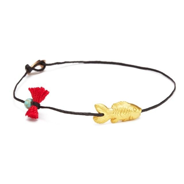 I am hooked on you! #apriati #apriatijewels #bracelet #goldfish #summer…