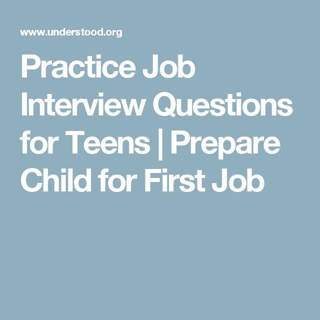 Congratulate, interview question teen opinion