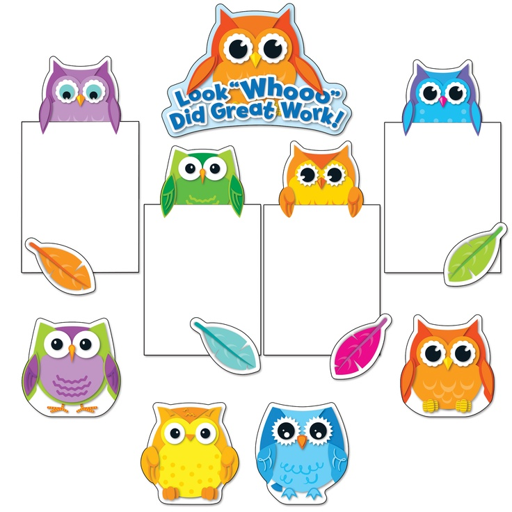 Colorful Owls Good Work Bulletin Board Set - CD110228 - $11.99 @ Adventures In Learning