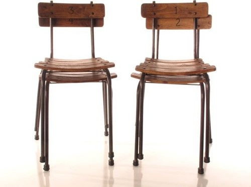 School House Chairs   Set Of 4 Eclectic Chairs
