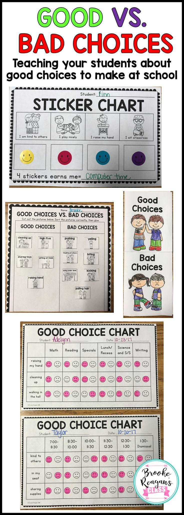 good choice bad choice chart: 489 best behavior and management images on pinterest behavior