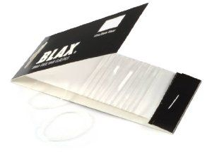 """Blax Snag-Free Clear 2mm Hair Elastics 12-ct. by Blax. $4.00. 12 elastics per pack. Used by many of the world's most renowned hair stylists. Featured in Allure and In Style Magazines (multi-year winner of """"Best Beauty Buys""""). Glides off hair when removed. 2mm width. BLAX snag-free hair elastics are great for all types of hairstyles. These clear, sleek, virtually undetectable bands are made of 100% polyurethane and will not snag, tangle or damage hair when removed..."""