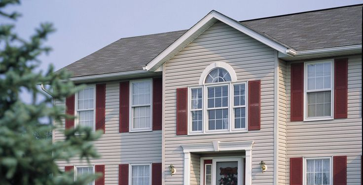 Classic looking home, cladded with our insulated vinyl cladding.