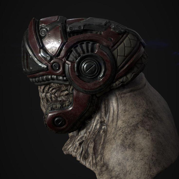 "ArtStation - ""Kage"" Helmet. , Derek Carter"
