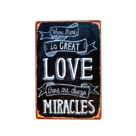 Chapa Decorativa Retro Miracles $ 119.0