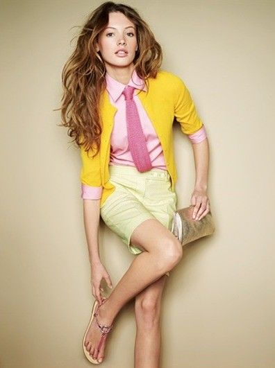 colorsColors Combos, Fashion, Pink Ties, Style, J Crew, Colors Combinations, Jcrew, Work Outfit, Bright Colors