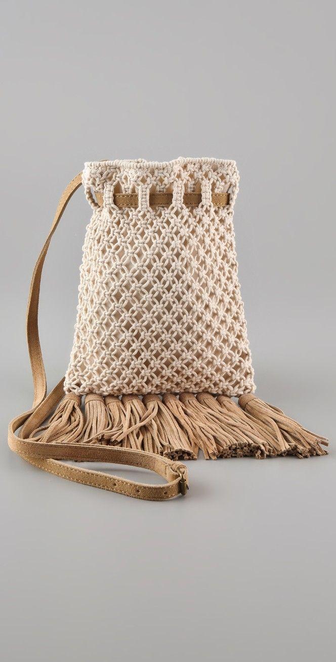 Club Monaco Kristin Crochet Cross Body Bag | SHOPBOP