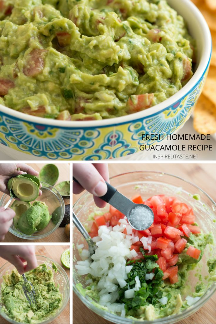 How to make Fresh, Homemade Guacamole // on inspiredtaste.net