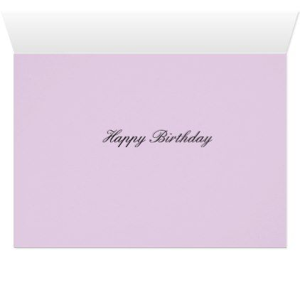 Lavender Mood Card - birthday cards invitations party diy personalize customize celebration