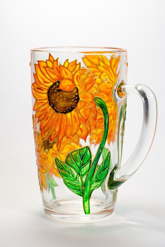 Flowers coffee mug Garden party favor. Sunflower mug  Mother day gift