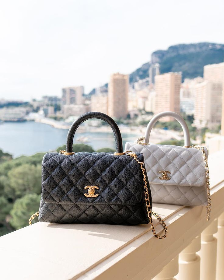 Chanel Coco Deal with Bag Black And Ivory
