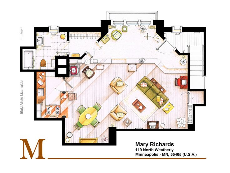 69 best Tv show floor plans images on Pinterest Floor plans