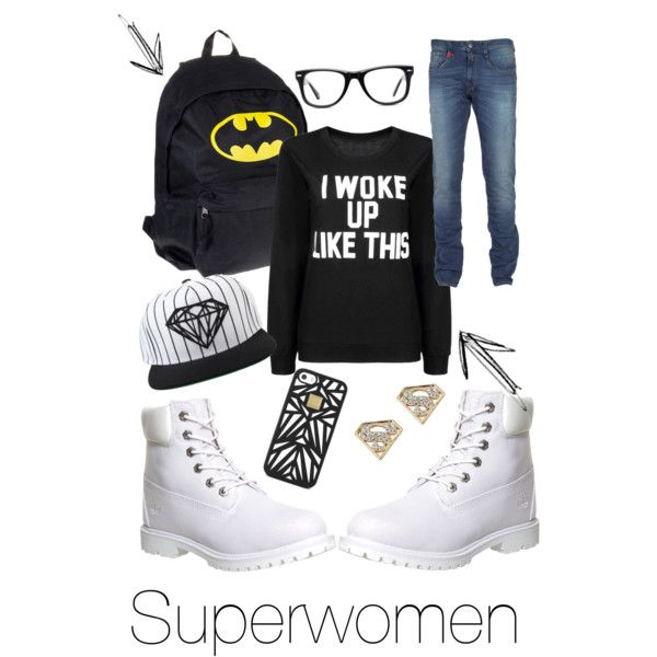SuperStyleUp by mafuja on Polyvore featuring polyvore, fashion, style, Timberland, Muse, Hervé Léger and Diamond Supply Co.