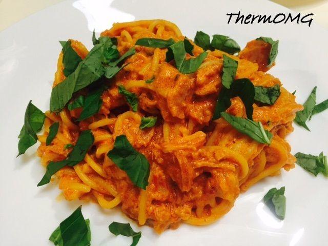 Creamy Chicken and Sun Dried Tomato Pasta — ThermOMG