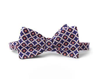 Pocket Square Set //Bow Ties For Men // Bow Tie // Secret Santa // Mens gift // Mens // Groom Gifts // Wedding // Set-Navy & White Kimono Fn3Pdq9K0