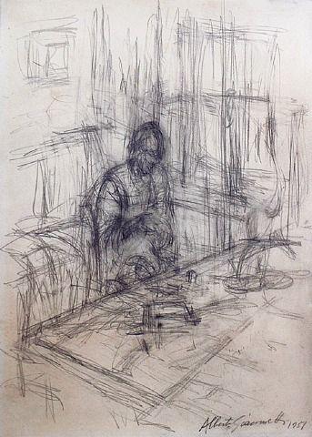 Alberto Giacometti, La mère de l'artiste, stampa