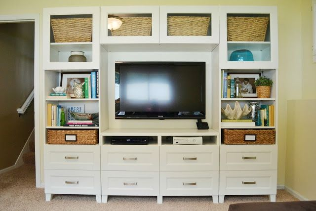 Dwelling Cents: Entertainment System (& Basement Updates) IKEA BESTA