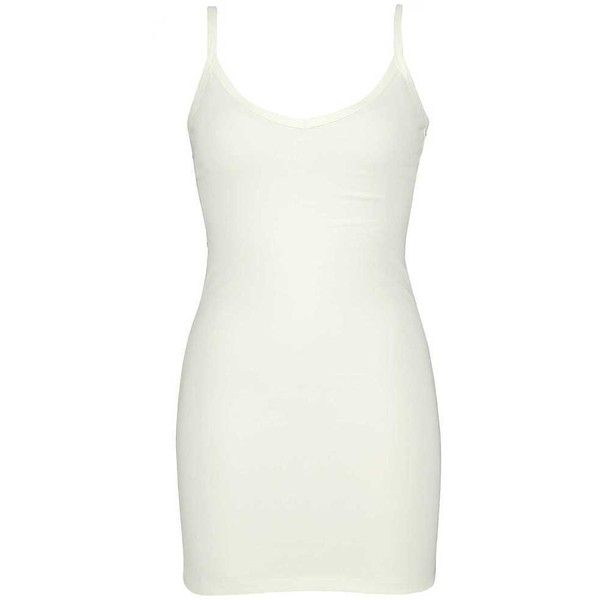 BKE Core V-Neck Extra Long & Lean Tank Top - Cream Small ($14) ❤ liked on Polyvore featuring tops, cream, cotton tank tops, white singlet, extra long tank tops, v neck tank and v neck tank top