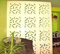 Majsterkowanie z pomysłem: 4. Ścianka działowa z ażurowych paneli dekoracyjnych