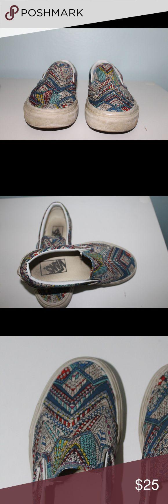 ❌On sale until midnight ❌Multicolor slip on vans! Multicolor slip on vans! Size 3.5 in Men and 5 in women Vans Shoes Sneakers
