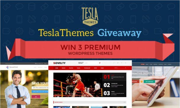 Here we are with another superb WordPress giveaway, in this TeslaThemes Giveaway you have chance to win 3 awesome WordPress themes which looks spectacular and comes with all modern features. #wordpress