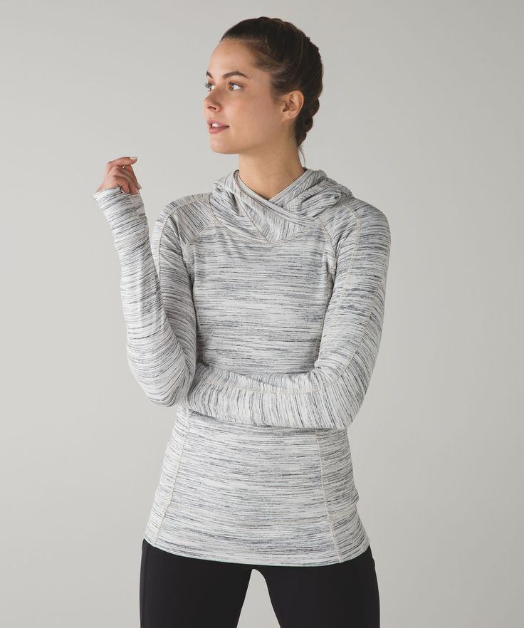 Release Date: 10/2016. Original Price: $108. Materials: Rulu. Color: space dye camo white multi/silver spoon. From cozy sweat layer to post-workout perfection, this soft and warm hoodie is a winter wonder Rulu™Stretchy, naturally breathable Rulu™ fabric is sweat-wicking and buttery softfour-way stretchsweat-wickingbuttery-soft handfeelnaturally breathable